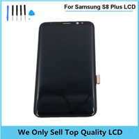 Wholesale Lcd Oled - 2017 New Super Amoled For Samsung Galaxy S8 S8+ Project Dream SM-G9500 SM-G950U OLED Display touch Screen Digitizer Assembly