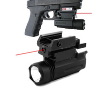 Wholesale Glk Led - 2 in 1 Tactical Pistol Red Dot Laser Sight + 180 Lumen Cree LED Flashlight Combo , T6 6061 Aluminum , Picatinny Weaver Style Mount for Glk,