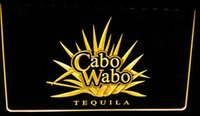 Wholesale Tequila Bar Signs - LS046-y Cabo Wabo Tequila Bar Beer Pub LED Neon Light Sign Decor Free Shipping Dropshipping Wholesale 6 colors to choose