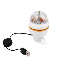 Wholesale Rgb Interface - Wholesale-New Mini RGB LED MP3 DJ Club Pub Disco Party Music Crystal Magic Ball Stage Effect Light Auto Rotating Bulb With USB Interface