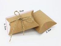 süßigkeitskastengeburtstagsfeier großhandel-Großhandelsweinlese weiße kakifarbene Seil-Süßigkeitschokoladenpapier-Geschenkbox für Geburtstags-Hochzeitsfest-Dekorationsgeschenkfertigkeit DIY Bevorzugung Wh