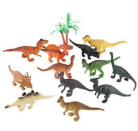 Wholesale wholesale boys toys for sale - 12pcs Dinosaur Toy Set Plastic Play Toys Dinosaur Model Action And Figures Best Gift For Boys