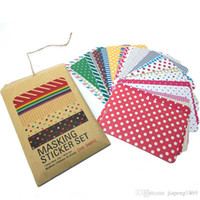 Wholesale New Colorful Stickers - NEW! Colorful Stickers Toy for DIY Exercise Book Diary Planner Scrapbooking Notebook Photos 27 Sheets A Pack, 4 Available Styles
