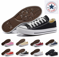 Wholesale Core Classic - 2018 Converse Chuck Tay Lor All Star Core Casual Shoes Low Cut Classic Black White Red Canvas Shoes Women Mens Converses Skateboard Sneakers