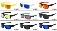 Wholesale wholesale free delivery - Free delivery black frame Gray lens two face sunglass men sunglasses sport sunglasses 9color Can choose