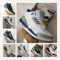 Wholesale High Sneakers For Basketball - 2017 high quality Wholesale cheap New retro 3 3s III mens basketball shoes sneakers running shoes for men shoes Drop Free shipping US 8-13