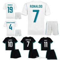 Wholesales 17 18 real madrid home away kids soccer jerseys home custom  name number ronaldo 7 top quality soccer uniforms boy fotbul set ... 5fd3921f4