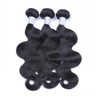 Wholesale natural human hair extensions best online - Brazilian Body Wave to inches Bundles Unprocessed Brazilian Human Hair Weaves Best Quality Natural Black Hair Extensions