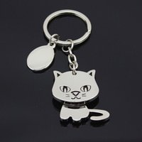 Wholesale Cute Cat Keychains - Anime cat keychain cute key ring for women kitten key chain key holder high quality llaveros chaveiro portachiavi