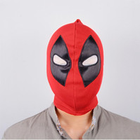 Wholesale Red Hat Fabric Wholesale - New Cool Marvel Superhero Deadpool Mask Breathable Fabric F Full Face Mask Halloween Cosplay Keep Warm Balaclava Hat