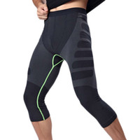 Wholesale Tight Waist Shapewear - Wholesale- New MA08 Men Carry Buttock Thin Leggings Fast Drying Slimming Compression Calf-Length Pants Body Shaper Tights Shapewear