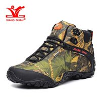 Wholesale Nice Camping - XIANGGUAN Waterproof Hiking Shoes for Men Nice Antislip Athletic Trekking Boots Camouflage Sports Climbing Shoe Man Outdoor Walking Sneakers
