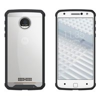Wholesale Bumper Silicone - For MOTO Z Case Transparent Clear Hybrid Bumper Shockproof Back Cover Skin Phone Accessories For MOTO Z