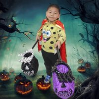 Wholesale Hand Bags Mix - 57*6.5*30Cm Halloween Accessories Candy Hand Bag Palm Shape Portable Hand Sack Novel Toys Kids Halloween Candy Bags Mixed Color