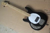 Wholesale left handed basses for sale - Customised Left Handed Music Man Black Ernie Ball Sting Ray String Electric Bass Guitar