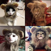 Pet Cat Dog Emulation Lion Hair Mane Ears Head Cap Otoño Invierno Dress Up Disfraz Muffler Bufanda