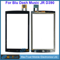 "Wholesale Blu Dash Music - Top Quality 4.0"" For Blu Dash Music JR D390 Touch Screen Digitizer Front Glass Panel Sensor Black White Color"