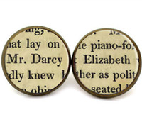 küpeler direkleri saplamaları toptan satış-10 çift / grup Jane Austen