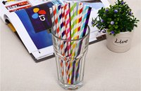Wholesale Thanksgiving Drinking Straws - 2,000pcs (80packs) mix colors Drinking Paper Straw wedding party drink straw Excellent Quality Trendy & Beautiful Paper Straws for All Occas