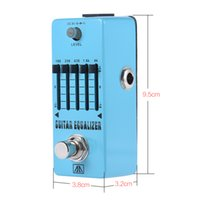 Wholesale guitar graphics - AROMA AEG-5 5-Band Graphic EQ Equalizer Guitar Effect Pedal Aluminum Alloy Body True Bypass Guitar multi effects pedal