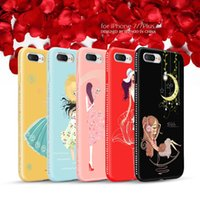 Neweat Nice Soft TPU Silicone Colored Painting Phone Cases diamante Telefone estojos para Iphone 7 7 plus iphone 6 6s 6plus