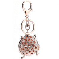 2016 Cute Animal Key Ring Beatles Car Keychain Insectes Metal Rhinestone Animal Porte-clés Porte-clés