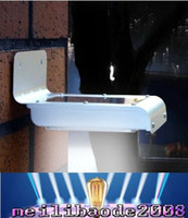 Wholesale Outdoor Lighing Lamp - New Solar Powered 16 LED Outdoor Lighing Lamp solar Wall Light ray sound sensor motion sensor Energy-saving Garden led solar MYY