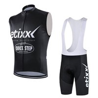 Wholesale Mens Cycling Vest Xl - New Etixx Quick Step cycling sleeveless jersey summer Ropa Ciclismo quick dry tour de france Bicycle sportswear mens cycling vest set D0808