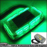 36 LED Car Roof Clignotant Strobe Emergency Light Bar Truck Police Avertissements Lampes Green Magnets base