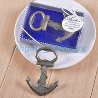 Wholesale vintage wedding favors - Free shipping Vintage Antique Style Nautical Ships Boat Anchor Beer Bottle Opener Wedding Favors Gifts JF-656