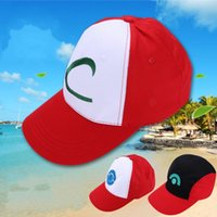 Wholesale Mini Sunscreen - Pocket Monster Hat Pikachu Cap Kathleen Mouth Net Anime Chapeau Three Style Can Choose Casual Sunscreen Tour Riding 5 2xb H1