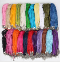 collar de joyas de bricolaje al por mayor-Collar de serpiente de cuero de cera rebordear cuerda de cuerda Cadena de extensor de alambre con cierre de langosta DIY joyería barata