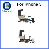Para iPhone 5 5G Puerto de carga original Audio Flex Cable para iPhone5 Cargador Dock Replacement Part Black Blanco DHL Free Ship