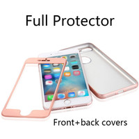 Wholesale Cell Case Protectors Wholesale - For iPhone 6 6s 7 Plus 2 in 1 Front Back Cover Fall-resistant Full Body Protector Cell Phone Cases