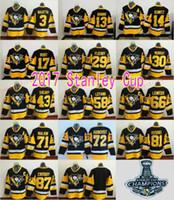 Wholesale Hockey 13 - Pittsburgh Penguins 2017 Stanley Cup Champions NHL Jersey #87 Sidney Crosby #71 Evgeni Malkin 13 Nick Bonino #14 Chris Kunitz #17 Bryan Rust