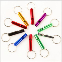 Wholesale Small Survival Whistle - small dog Aluminum Alloy Outdoor Survival Training Whistle For training dogs campaign mountaineering exploring Random Colors