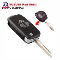 Wholesale Remote Key Suzuki - Floding Remote Key Case Shell for SUZUKI SX4 Swift 2 Button Flip with Button Pad