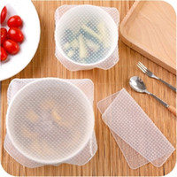 Wholesale heat seals online - Transparent Silicone Seal Covers Refrigerator Preservative Film Reusable Microwave Oven Heat Lids Fresh Wrap Cover Non Slip Lid New yh3