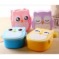 Wholesale Cartoon Plastic Lunch Box - Cute New Cartoon Owl Lunch Box Food Fruit Storage Container Portable Bento Box Food-safe Food Picnic Container for Kids