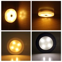 Wholesale Car Interior Decoration Leds - 4 Leds Touch Night Light Car Interior Decoration Lamp For Living Room Bedroom Stairs Hallway Kitchen Closet Lighting CLH