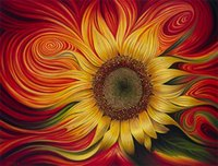 Wholesale square drill - New diy diamond painting cross stitch kits resin pasted painting full square drill needlework Mosaic Home Decor sunflower zf0058