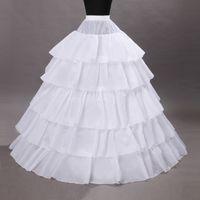 elbiseler için örtüler toptan satış-5 Çemberler Kombinezon Kabarık Etek Balo Düğün Balo Parti Elbiseler Için Petticoat Underskirts Fişleri Gelin Accessories110-120cm Çapı