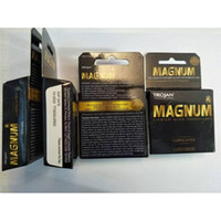 Wholesale Latex Penis Extension Condoms - Trojan Condoms MAGNUM Lubricanted Silky Comfortable Stimulate Penis Extension Sensitivity Safer Sex Toys Sleeves 3pcs box=882 boxes case DHL
