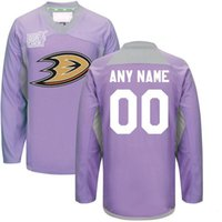 dd1ac0952cf Custom Anaheim Ducks Jerseys 2016 Hockey Fights Cancer Practice Jersey Any  Name Any Number Anaheim Ducks Hockey Jerseys Team Color Purple ...