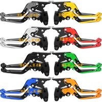 Wholesale Ninja Lever - Motorcycle CNC Folding Extending For Kawasaki NINJA 650R VERSYS 650CC Z750 S ZZR250 Zephyr 550 Moto Extensible Foldable Brake Clutch Levers