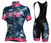 Wholesale Womens Bicycle Jersey Set - 2017 Ale Graphics PRR Womens Camo Cycling jerseys sets Bike Bicycle Short Sleeves Jersey Mountain Road MTB Cycling Clothing Jersey T-Shirts