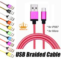Wholesale Cable Fabric Charging - Braided Micro USB Charger Cable 1M 3FT 2M 6FT Data Sync Fabric Nylon Charging Cable Cord Line For samsung Galaxy note Huawei honor