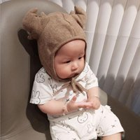 Wholesale Wholesale Handmade Baby Clothing - Hat Cotton Girls Boys Newborn Baby Antlers Caps Photography Hundred Days Baby Photo Modeling Clothes Handmade Hat Studio Props Free Shipping