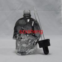 Wholesale E Vapours - 120ml Skull shape Eco Vapour E-cig Dropper Bottle translucent Black e Liquid e juice bottles Refillable essential oil Containers