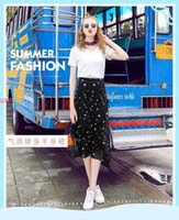 Wholesale Female summer of the new long dress chiffon bust skirt of tall waist irregular falbala a word